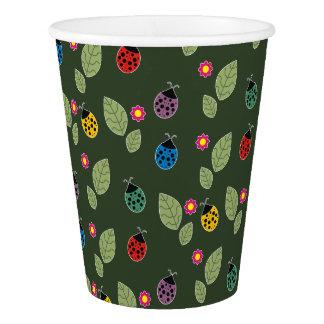 Folha e besouro copo de papel