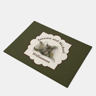 Folha e bolota do carvalho da queda personalizadas tapete