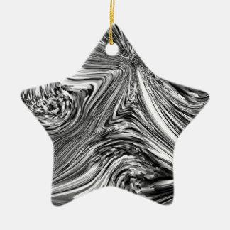 Folha eletrônica ornamento de cerâmica estrela