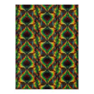 Folha holográfica de brilho do brilho das luzes do convite 16.51 x 22.22cm