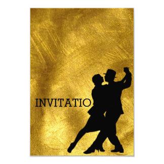 Folha Latin do ouro da dança do Flamenco do tango Convite 8.89 X 12.7cm