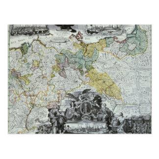 Folha mestra do soberano prussiano cartão postal