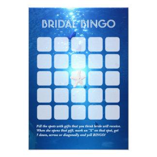 Folha nupcial subaquática do Bingo do tema 5x5 do  Convite