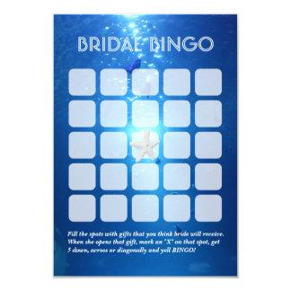 Folha nupcial subaquática do Bingo do tema 5x5 do Convite 8.89 X 12.7cm