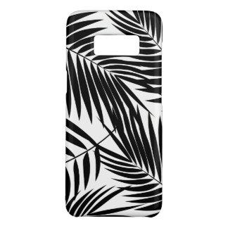 Folha preta havaiana das palmas de Kona tropical Capa Case-Mate Samsung Galaxy S8