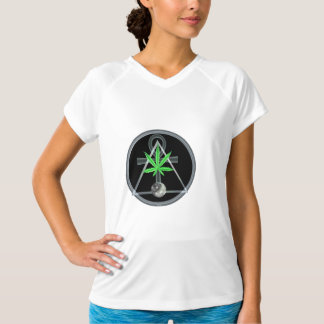 Folha, triângulo e anhk do pote por Valxart.com Camisetas