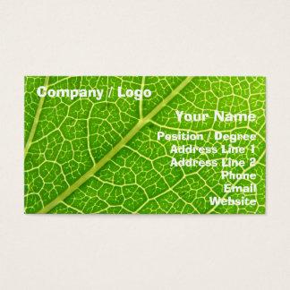 Folha verde 2 cartão de visitas