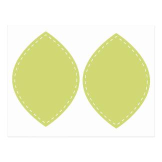 Folha verde da beira do traço no cartão para o