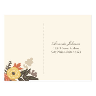 Folhagem de outono que Wedding o cartão de RSVP