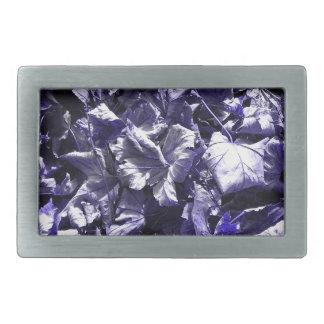 Folhas - azul da sarja de Nimes