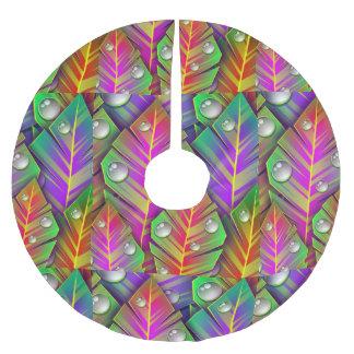 Folhas coloridas cobertura para árvore de natal de poliéster