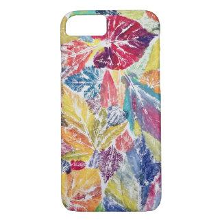 Folhas coloridas do arco-íris - a capa de telefone