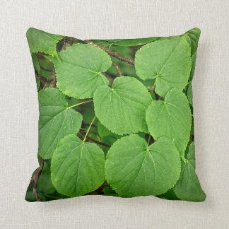 Folhas da limeira travesseiros