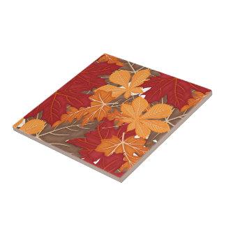 Folhas da queda do outono azulejo quadrado pequeno