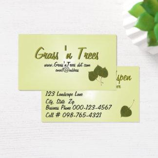 Folhas de Aspen Cartão De Visitas