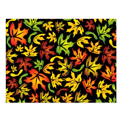 folhas de bordo cartão postal