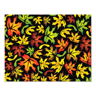 folhas de bordo convite 10.79 x 13.97cm