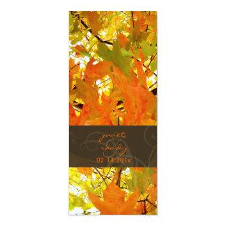 Folhas de bordo/convites do casamento outono