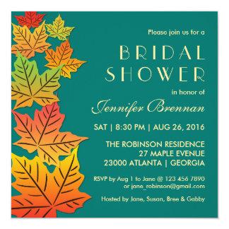 Folhas de bordo de queda do outono que Wedding o Convite Quadrado 13.35 X 13.35cm