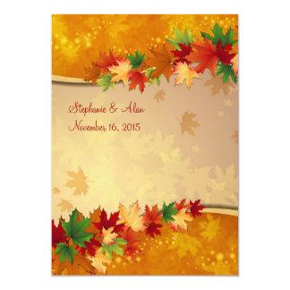 Folhas de bordo de queda que Wedding o convite Convite 12.7 X 17.78cm