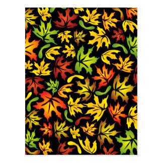 folhas de bordo do outono cartão postal