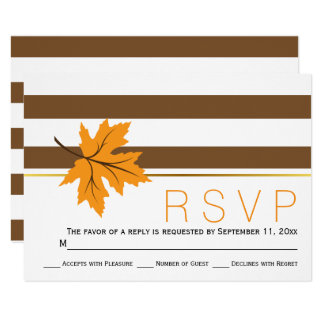 Folhas de bordo e casamento outono RSVP das Convite 8.89 X 12.7cm
