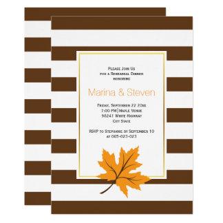Folhas de bordo e listras que wedding o jantar de convite 12.7 x 17.78cm
