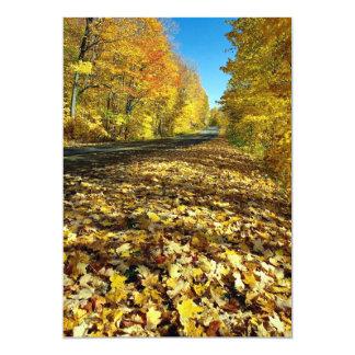 Folhas de bordo e Parkway da fortuna, parque de Convite 12.7 X 17.78cm