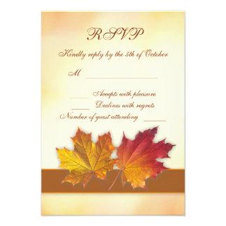 Folhas de bordo outonais RSVP do ouro vermelho Convite Personalizado