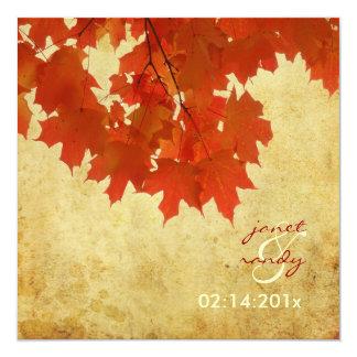 Folhas de bordo vermelhas de PixDezines/evento da Convite Personalizado