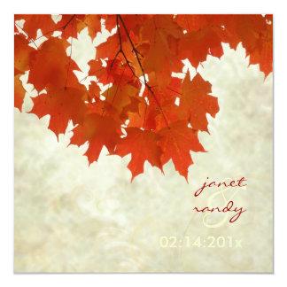 Folhas de bordo vermelhas de PixDezines/evento da Convites
