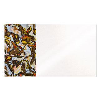 Folhas de outono - arte abstracta pintado à mão modelo cartões de visita