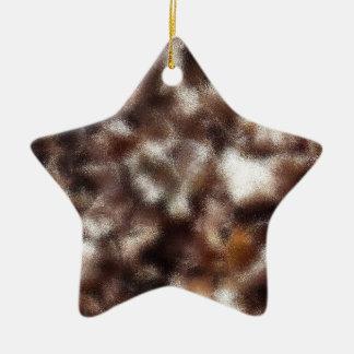 Folhas de outono - borradas ornamento de cerâmica estrela