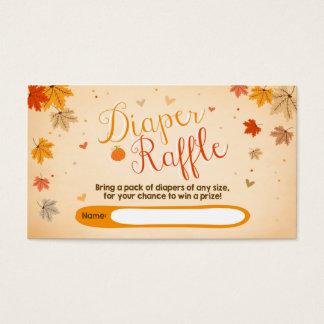 Folhas de outono da queda do cartão do Raffle da