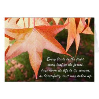 Folhas de outono da simpatia cartão