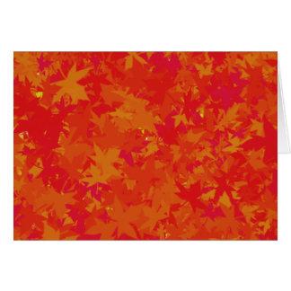 Folhas de outono no cartão feito sob encomenda