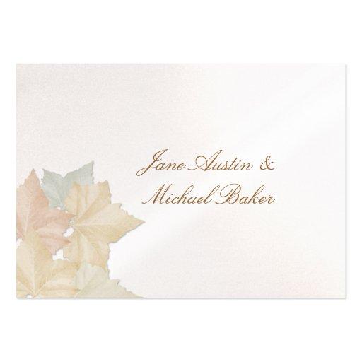 Folhas de outono, uns cartões de agradecimentos do modelo cartao de visita