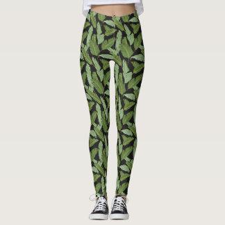 Folhas de palmeira 2 leggings