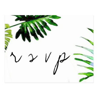 Folhas de palmeira que wedding cartão de RSVP