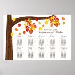 Folhas de queda do outono que Wedding a carta do a Posters