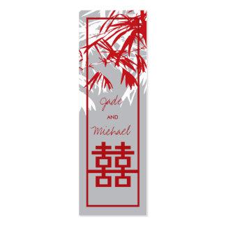 Folhas do bambu + Obrigado da caixa do dobro Xi vo Cartões De Visita