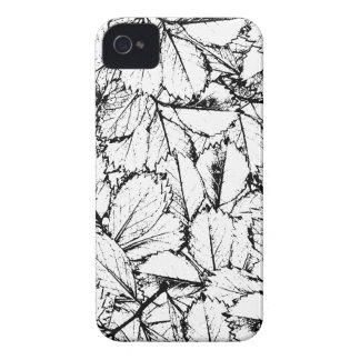 Folhas do branco capas para iPhone 4 Case-Mate