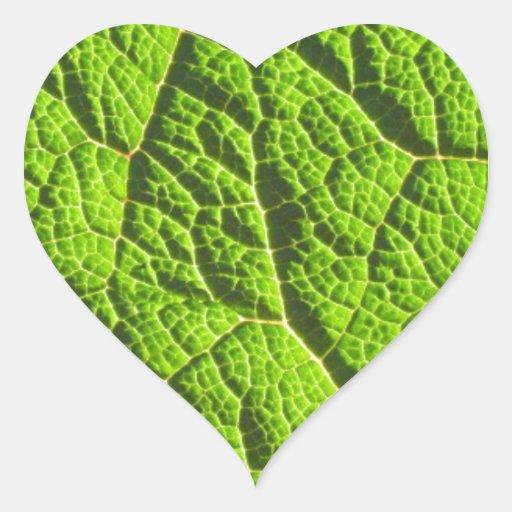 Folhas do dinossauro adesivos em forma de corações