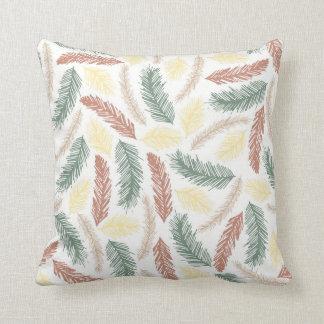Folhas do verão travesseiro de decoração