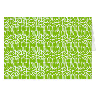 Folhas do verde homenagem Matisse Cartão