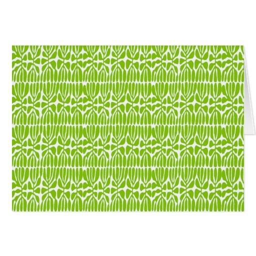 Folhas do verde, homenagem Matisse Cartão