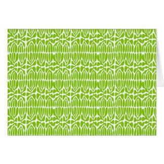 Folhas do verde, homenagem Matisse Cartão Comemorativo