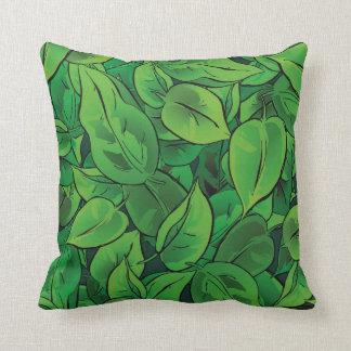 Folhas do verde - Ver 1 Travesseiros De Decoração