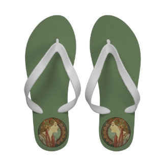Folhas dos azulejos de mosaico da senhora Verde do Sandálias De Praia