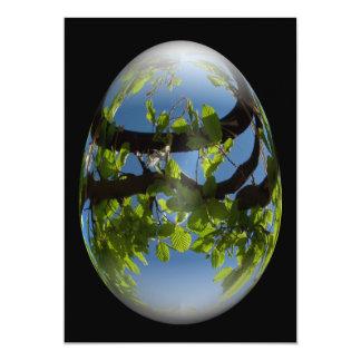 folhas dos jovens do ovo de felz pascoa convite 12.7 x 17.78cm